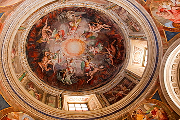 dome painting, Vatican Museums, Vatican city, Rome, Latium, Lazio, Italy, Europe / Vatican museums