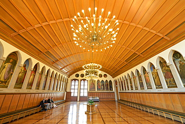 Kaisersaal, emperor hall, cityhall Romer, Frankfurt on the Main, Hesse, Germany / Römer