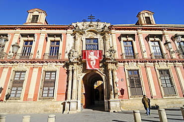 The Archbishop´s Palace, Palacio Arzobispal, episcopal palace, Plaza Virgen de los Reyes, square, Seville, Sevilla, Province of Seville, Andalusia, Spain, Europe