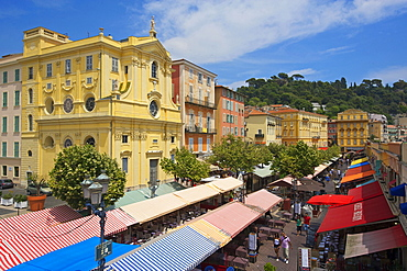 Street Cafe, Place Charles, Old Town of Nice, Cote d?Azur, France