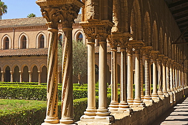 Cloister, Cathedral of Monreale, Sicily, Italy