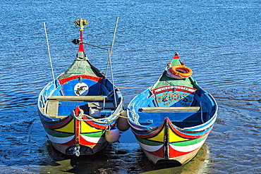 Colorful boats, Torreira, Aveiro, Beira, Portugal