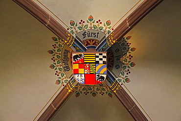 Melanchthon House, Memorial Hall, coat of arms of Wolfgang, Prince of Anhalt, Bretten, Kraichgau, district of Karlsruhe, Baden-Wurttemberg, Germany