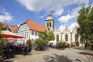 Church St. Aegidius, Marketplace, old town, Rheda-Wiedenbruck, Munsterland, North Rhine-Westphalia, Germany