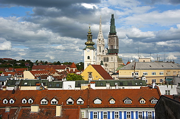 View of Upper Town towards east, Zagreb, Croatia
