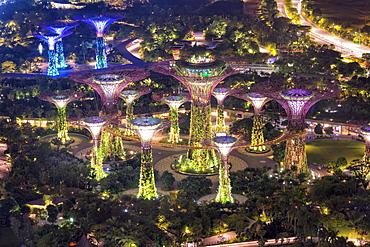 Gardens by the Bay, at night, Singapore