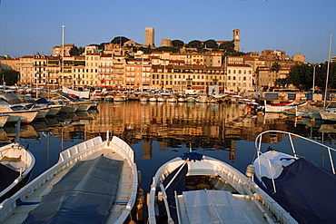 Harbour and old part of Cannes, Cote d'Azur, Provence, Southern France