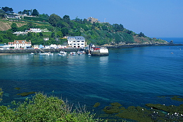 Rozel and harbour, Rozel Bay, Jersey, Channel Islands, Great Britain