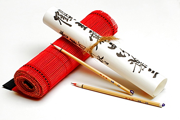 Paintbrush and calligraphy / characters