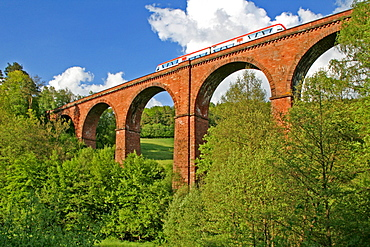 Himbachel viaduct, Erbach-Hetzbach, near Michelstadt, Forest of Odes, Hesse, Germany / Himbächel viaduct, build 1880