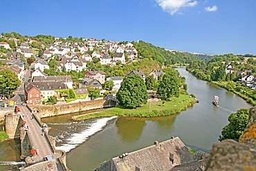 View from castle Dehrn, river Lahn, Runkel, district Limburg-Weilburg, Hesse, Germany