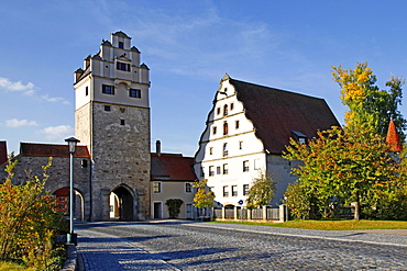 Nordlingen gate, Museum of the 3rd Dimension, Dinkelsbuhl, Middle Franconia, Bavaria, Germany / Nordlingen, Dinkelsbuhl, Nordlinger Tor