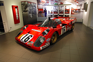 Red Ferrari 512 Racing Car produced in 1971, Maranello, Emilia-Romagna, Italy, Europe