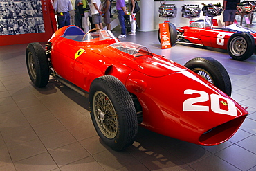 Red Ferrari 246 F1 Racing Car produced in 1958, Maranello, Emilia-Romagna, Italy, Europe