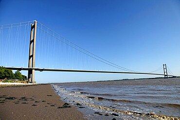 Humber Bridge, East Yorkshire, Yorkshire, England, United Kingdom, Europe