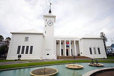 City Hall And Arts Centre, Hamilton, Bermuda Islands, North Atlantic Ocean, Atlantic