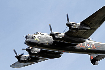 Lancaster Bomber, Battle of Britain Memorial Flight, South Bay, Scarborough, North Yorkshire, England, United Kingdom, Europe