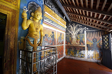 Devil paintings and statue, Matale, Sri Lanka, Asia