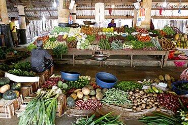 Fruit and vegetable stall, Galle, Sri Lanka, Asia