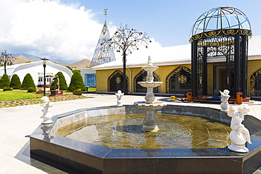 Ruh Ordo Cultural complex named after famous Kyrgyz writer Chinghiz Aitmatov, Issyk Kul Lake, Cholpon-Ata, Kyrgyzstan, Central Asia, Asia