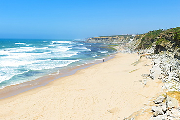 Praia do Sao Sebastiao beach, Ericeira, Lisbon Coast, Portugal, Europe
