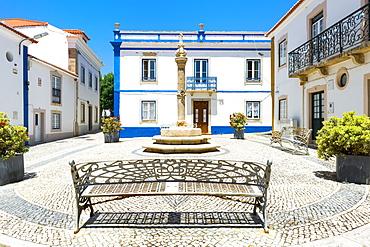 Largo do Pelourinho square, Ericeira, Lisbon Coast, Portugal, Europe