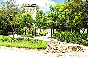 Ruinas fingidas, Don Manuel Royal palace, Public garden Merendas, UNESCO World Heritage Site, Evora, Alentejo, Portugal, Europe
