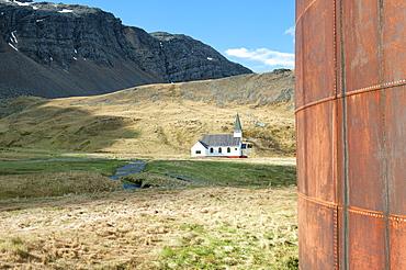 Whalers' Church, Former Grytviken Whaling Station, South Georgia, Polar Regions