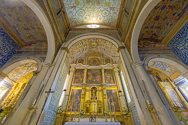 Santa Maria Church, interior, Main altar, Obidos, Leiria District, Estremadura, Portugal, Europe