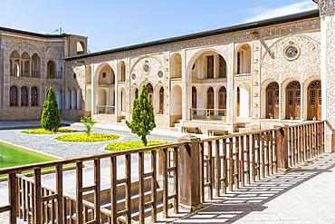 Tabatabai House, Inner courtyard, Kashan, Isfahan Province, Islamic Republic of Iran, Middle East