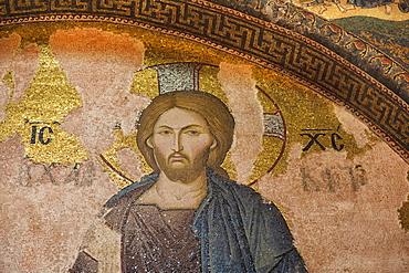 Khalke Jesus mosaic, Church of the Holy Saviour in Chora (Kariye Camii), Istanbul, Turkey, Europe