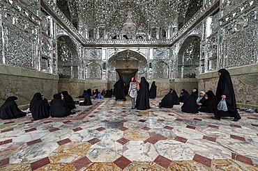 Silver muqarnas, Hazrat-e Masumeh, Shrine of Fatima al-masumeh , Qom, Iran