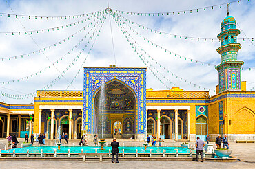 Azam Mosque courtyard, Shrine of Fatima al-masumeh , Qom, Iran