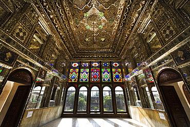 Zinat ol-Molk Mansion, Mirror Hall, Shiraz, Fars Province, Iran, Middle East