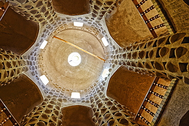 Interior of a traditional pigeon tower, Meybod, Yazd Province, Iran, Middle East