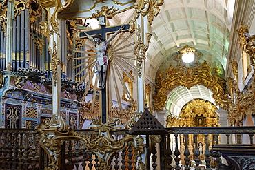 St. Martin of Tibaes Monastery, Upper Choir and organ, Braga, Minho, Portugal, Europe
