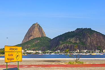 Sugar Loaf Mountain viewed from Botafogo, Rio de Janeiro, Brazil, South America