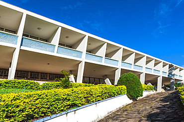 Hotel Tijuco conceived by the famous architect Oscar Niemeyer, Diamantina, Minas Gerais, Brazil, South America