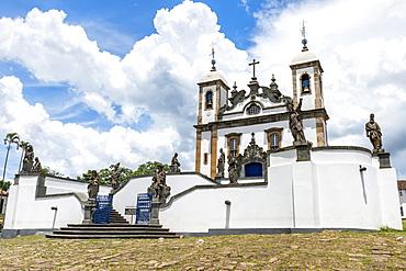 Santuario de Bom Jesus de Matosinhos, Aleijandinho masterpiece, Congonhas do Campo, UNESCO World Heritage Site, Minas Gerais, Brazil, South America