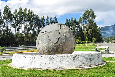 Equator line monument Guachala ball, Guachala, Pichincha Province, Ecuador, South America