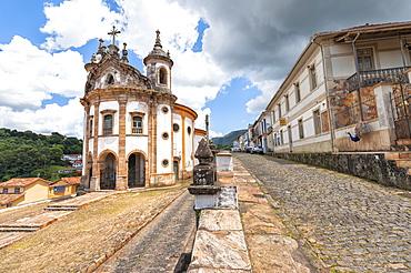 Nossa Senhora do Rosario Church, Ouro Preto, UNESCO World Heritage Site, Minas Gerais, Brazil, South America