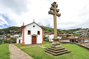 Padre Faria Church, Ouro Preto, UNESCO World Heritage Site, Minas Gerais, Brazil, South America