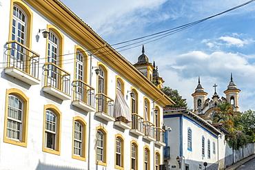 Colourful streets, Mariana, Minas Gerais, Brazil, South America