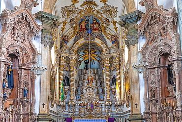Main altar, Sao Francisco de Assis Church, Sao Joao del Rey, Minas Gerais, Brazil, South America
