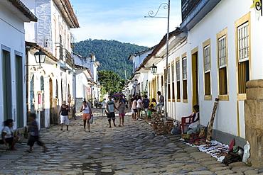 Street scene, Paraty, Rio de Janeiro State, Brazil, South America