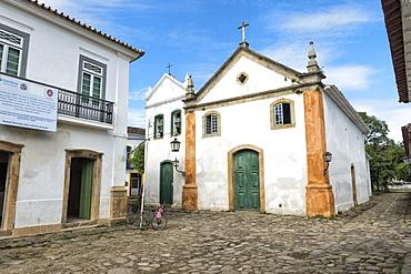 Nossa Senhora do Rosario e Sao Benedito Church, Paraty, Rio de Janeiro State, Brazil, South America