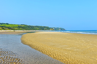 Beach near Cap Griz Nez, Cote d'Opale, Region Nord-Pas de Calais, France, Europe