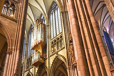 Central Nave, Cologne Cathedral, UNESCO World Heritage Site, Cologne, North Rhine Westphalia, Germany, Europe
