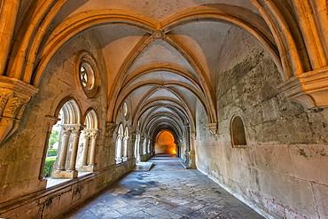 Cloister of King Dinis, Santa Maria Monastery, UNESCO World Heritage Site, Alcobaca, Estremadura, Portugal, Europe