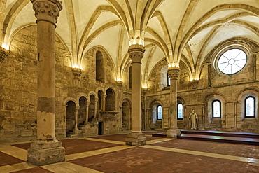 Refectory, Santa Maria Monastery, UNESCO World Heritage Site, Alcobaca, Estremadura, Portugal, Europe